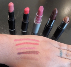 Fall/Winter Lipsticks Swatches