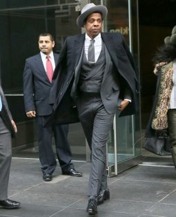Jay Z leaving to attend the Roc Nation brunch