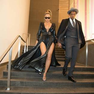 The first couple of the music industry leave the event in style
