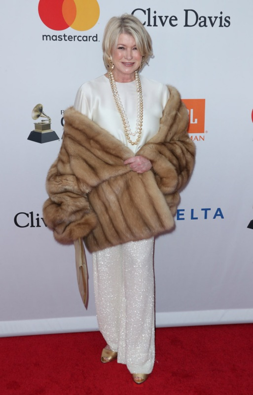 Mandatory Credit: Photo by Matt Baron/REX/Shutterstock (9336628gt) Martha Stewart Pre-Grammy Gala and Grammy Salute to Industry Icons Presented by Clive Davis and The Recording Academy, Arrivals, New York, USA - 27 Jan 2018