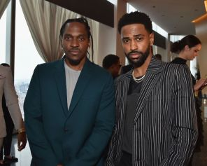 Pusha T and Big Sean represent at the brunch for GOOD Music. Where's Ye?